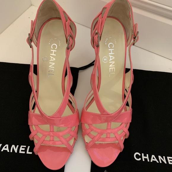 pink chanel heels